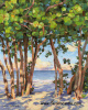 """Sea Grape View""  28"" x 22' giclee print on stretched canvas"