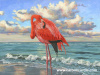 The Beach Flamingo 36x48