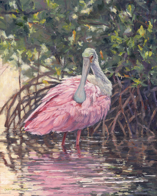 "Pink in the Mangroves 20""x16"""