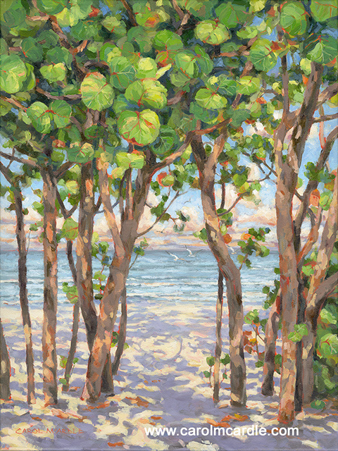 "Sea Grapes and Soft Waves 24""x18"""