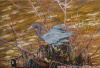 "Blue Heron in The Bush 24""x36"""